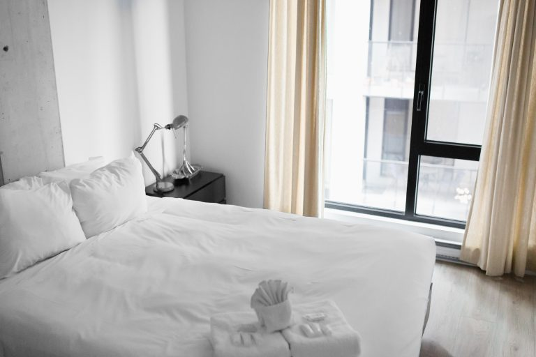 Double Bed Bases - bed in room with white linen